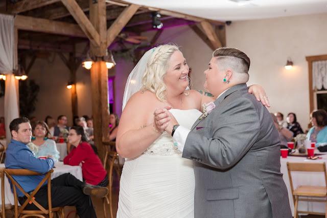 First Dance at a Shenandoah Mill Lesbian Wedding in Gilbert, AZ