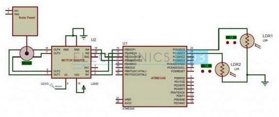 Solar Power For Sun Tracker Circuit Diagram Tradeoficcom
