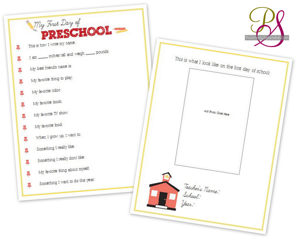 hight resolution of First-Day-of-School Interviews for Kids (Free Printables) - Positively  Splendid {Crafts