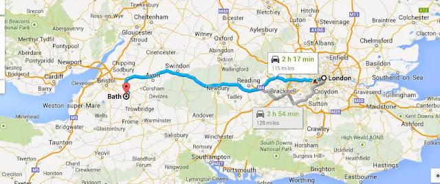 How far away is London from Bath?