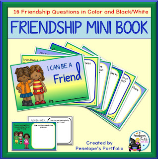 Friendship Social Skills Mini Book