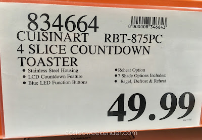 Deal for the Cuisinart RBT-875PC Countdown 4-Slice Toaster at Costco