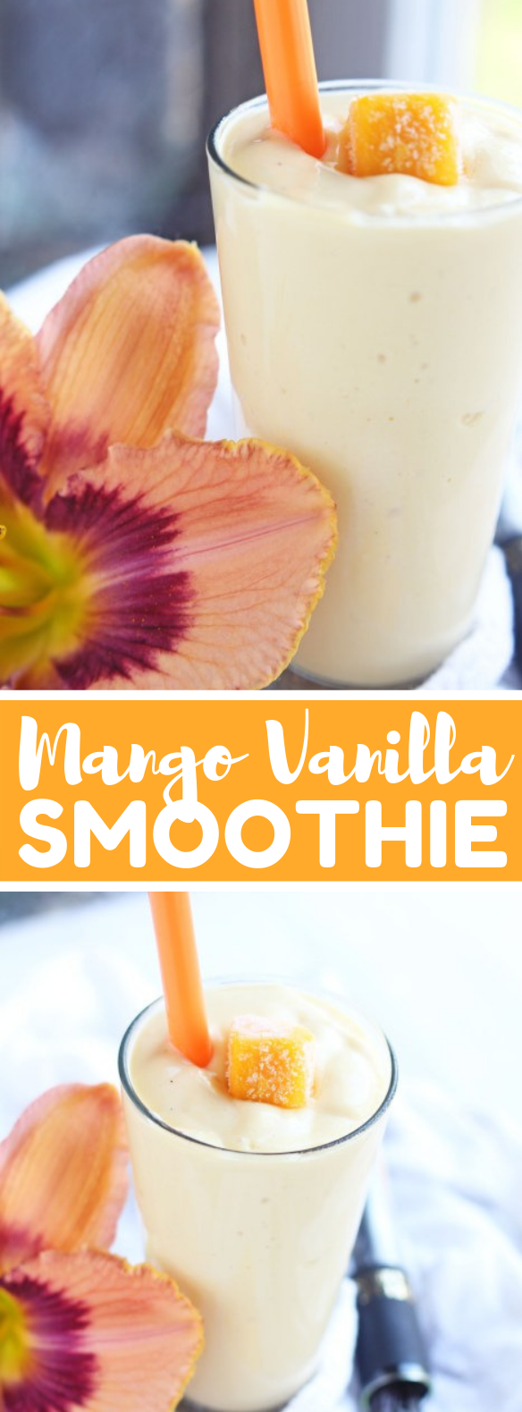 MANGO VANILLA SMOOTHIE #drinks #healthydrink