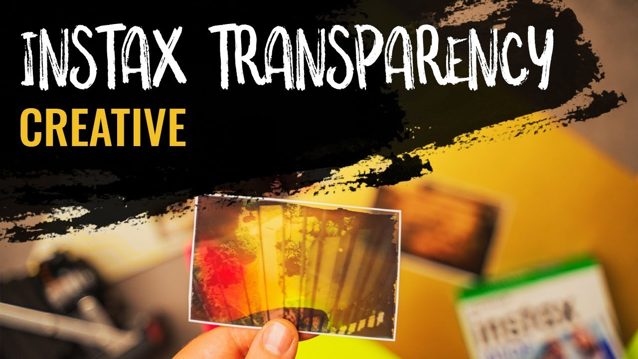 FUJI INSTAX TRANSPARENCY, be creative with INSTAX