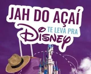 Cadastrar Promoção Jah do Açaí Te Leva Disney - Viagem Com Acompanhante