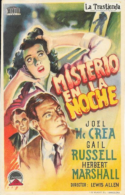 Misterio en la Noche - Programa de Cine - Joel McCrea - Gail Russell