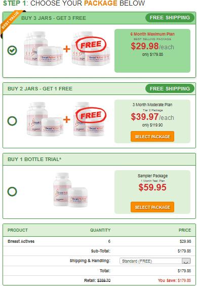 Como comprar Breast Actives paso 2
