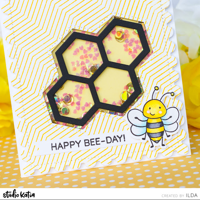 Clean and Simple, Honey Bee, Studio Katia, Card Making, Stamping, Die Cutting, handmade card, ilovedoingallthingscrafty, Birthday, Stamps, how to,