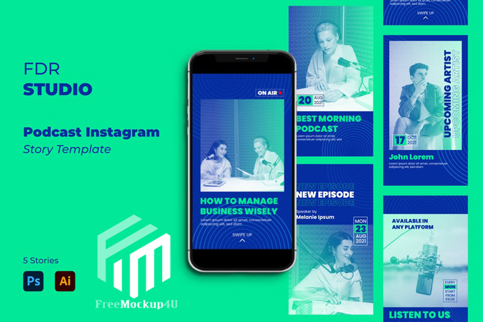 Podcast Instagram Story Template Elements