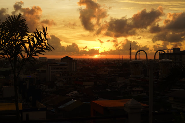 Sunset at Terasky Transera Pontianak