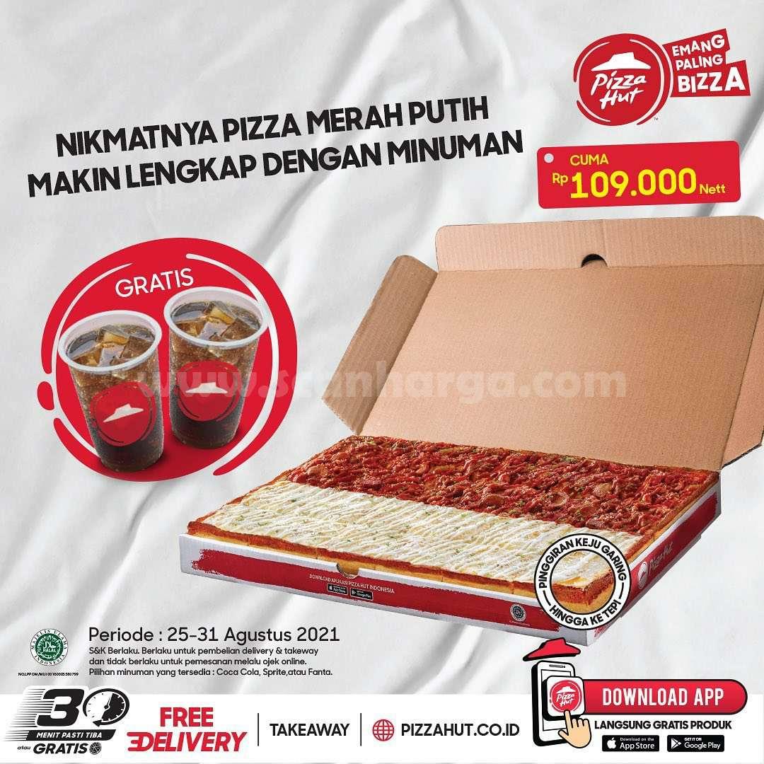 PIZZA HUT Promo BELI Pizza Merah Putih GRATIS Coca cola, Sprite atau Fanta