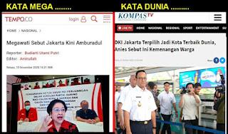 Kata Megawati Jakarta Amburadul Tapi Dunia Mengakui Jakarta Kota Terbaik Dunia