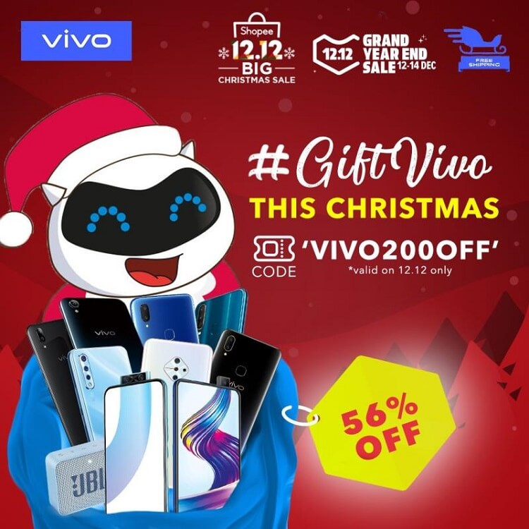 Score up to 56% Discount on Select Vivo Smartphones at Lazada, Shopee 12.12 Sale