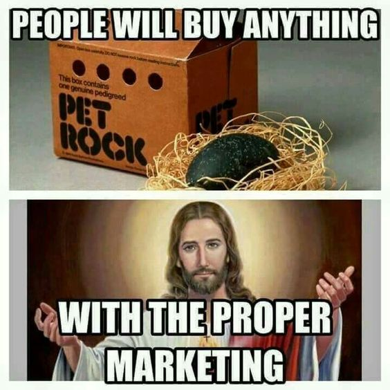 People Will Buy Anything With Proper Marketing | Funny Jesus Meme