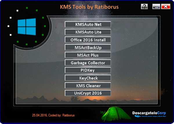 KMS Tools Portable Pack de Utilidades Para Activar Windows y Office