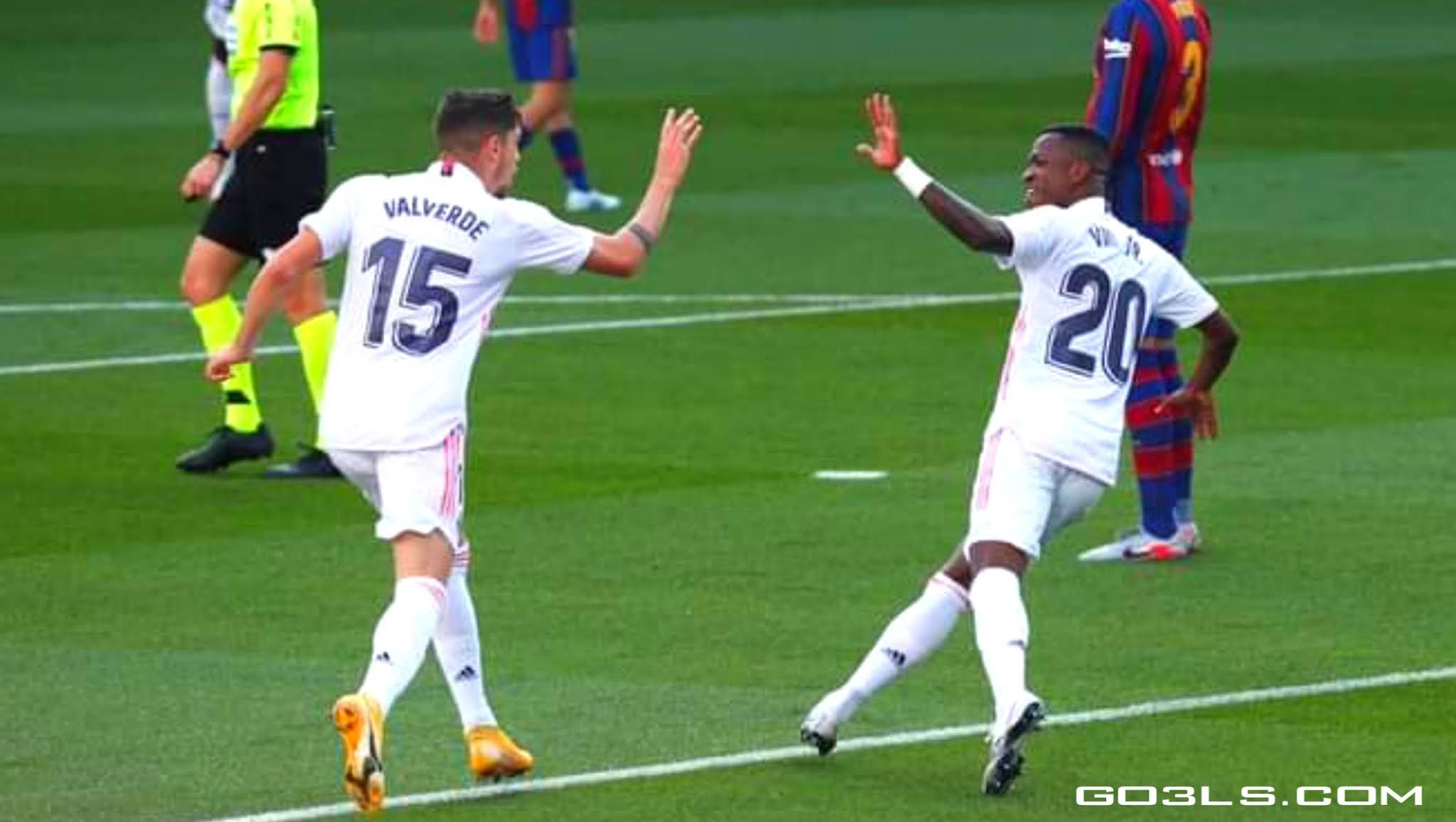 اهداف مباراة برشلونة وريال مدريد