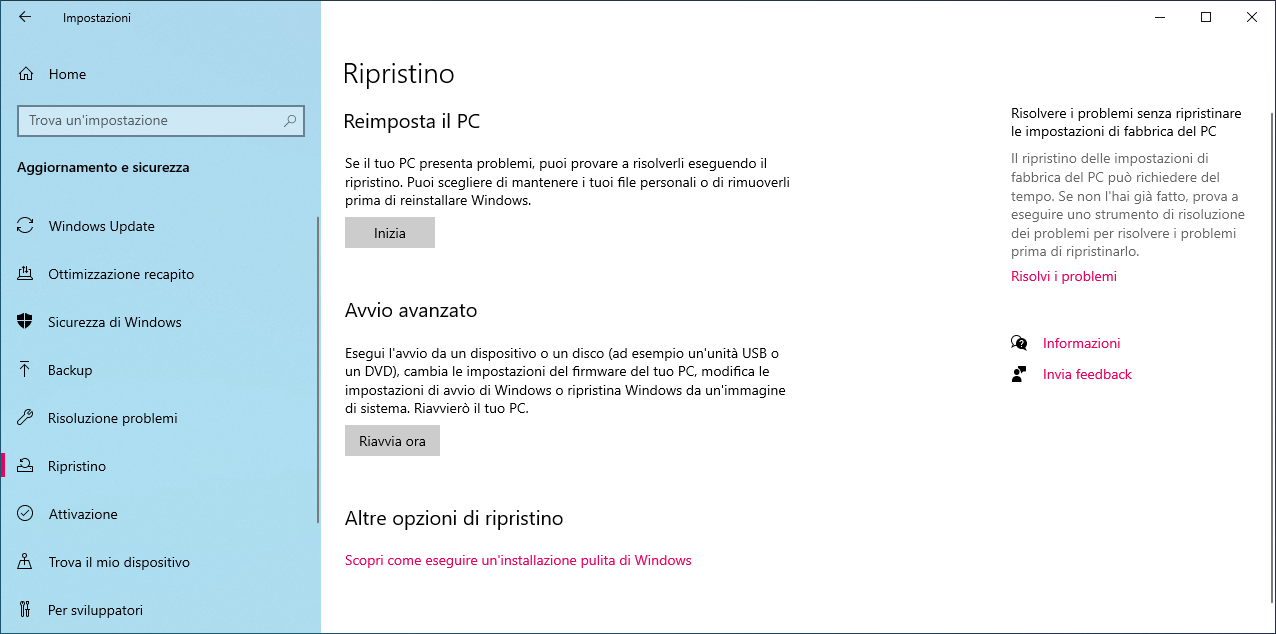 Ripristino-Windows-10