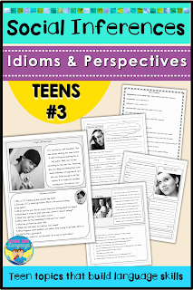 Photos, idioms, social language and problem solving for teens!