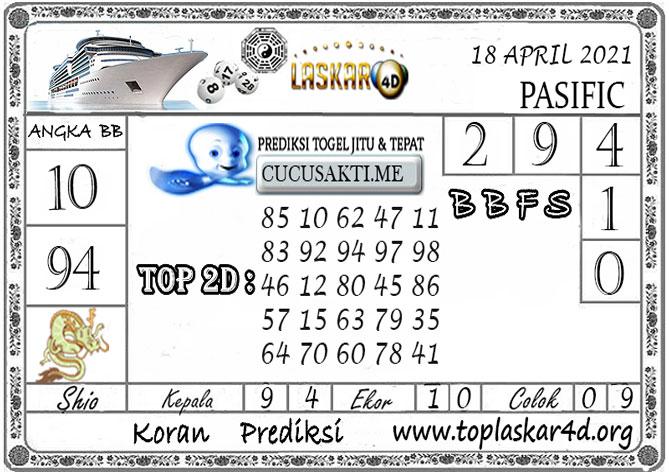Prediksi Togel PASIFIC LASKAR4D 18 APRIL 2021