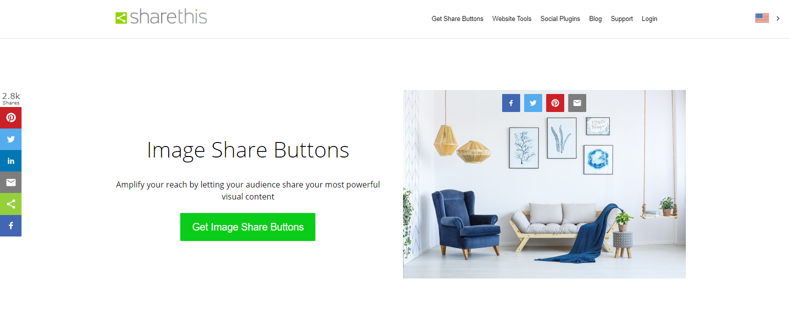 Image Share Buttons
