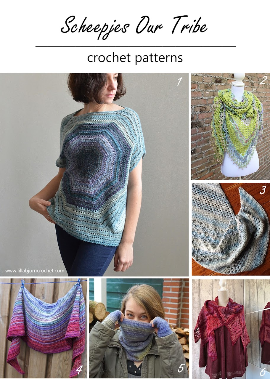 Round up of crochet patterns using Our Tribe by Scheepjes (www.lillabjorncrochet.com)