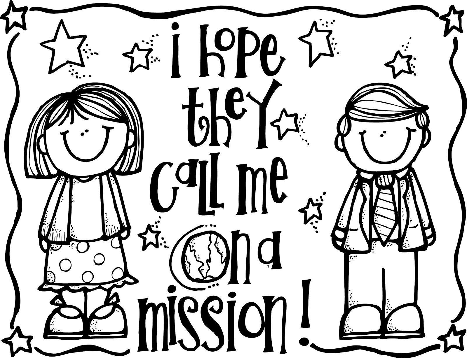 missionaries coloring pages - photo#2