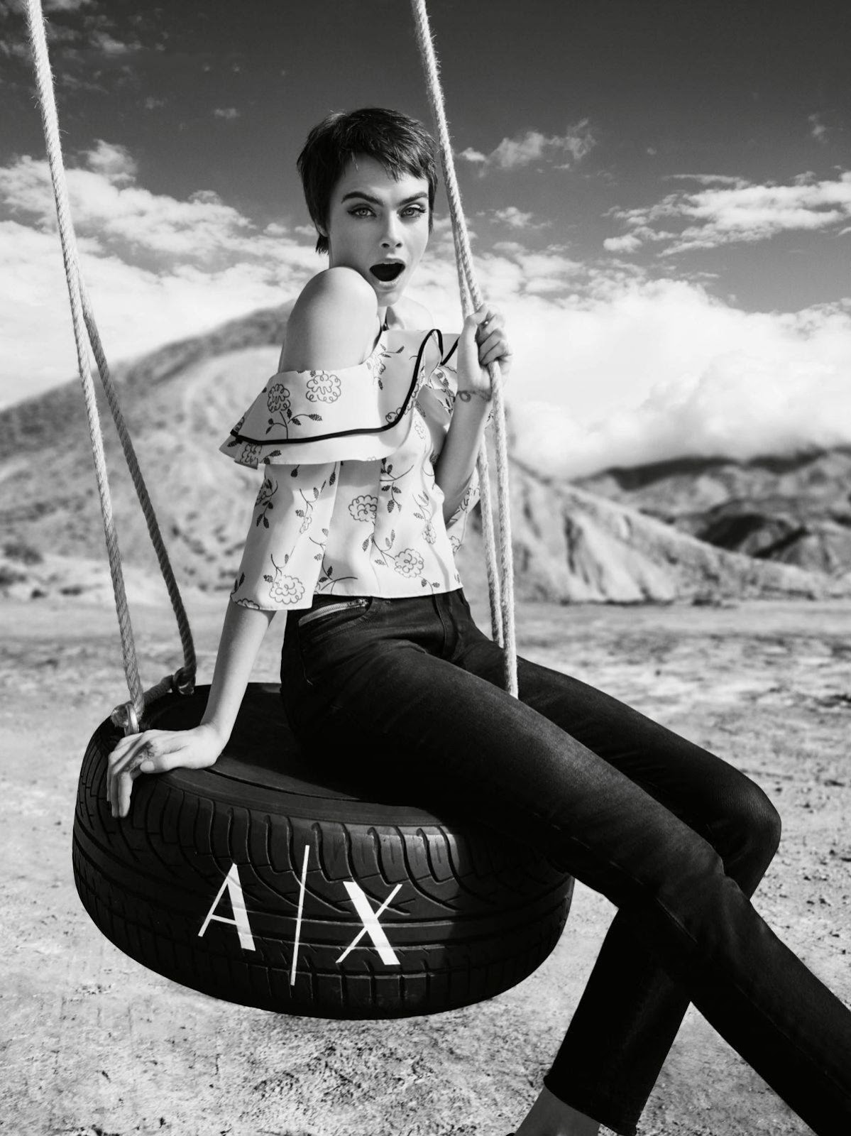 Cara Delevingne stars in Armani Exchange's spring-summer 2018 campaign