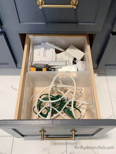 extension cord and utility storage