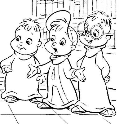 alvin and the chipmunks coloring pages 002 - Alvin And The Chipmunks Pictures To Colour