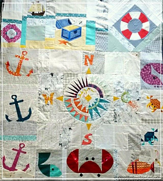 Puppilalla, Round Robin Quilt, Rakish Needle Robin, Foundation Paper Piecing, FPP,