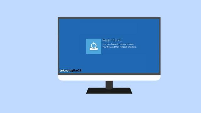 instal ulang windows 10