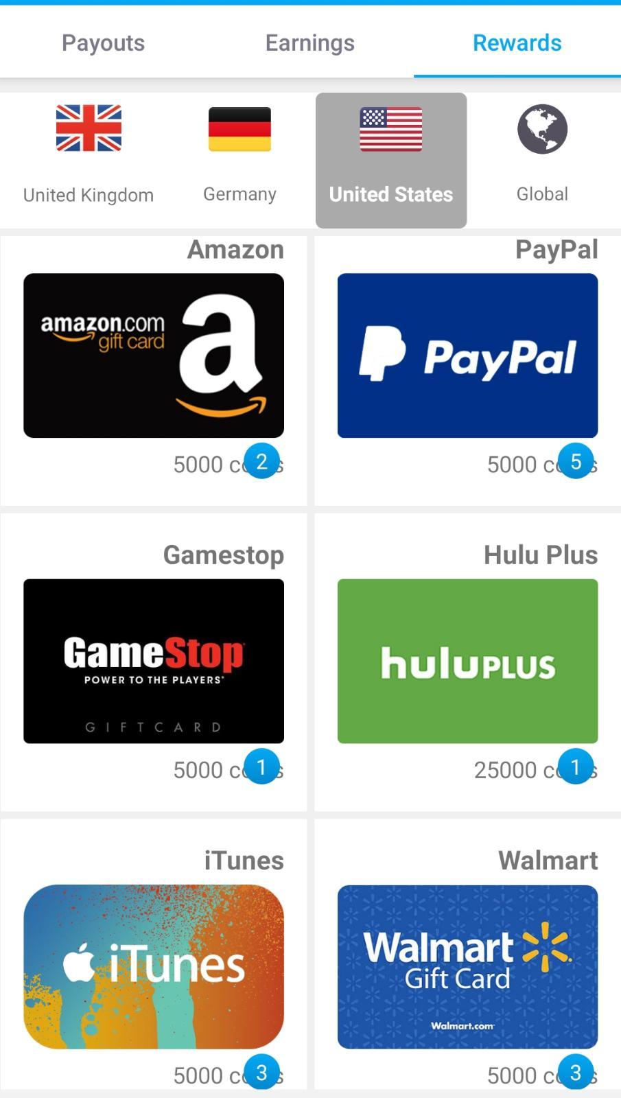 تطبيق أمريكي لربح بطاقات جوجل بلاي مجانا + رصيد باي بال مجانا 2020 + بطاقات امازون وايتونز