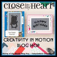 Creativity in Motion Blog Hop Badge