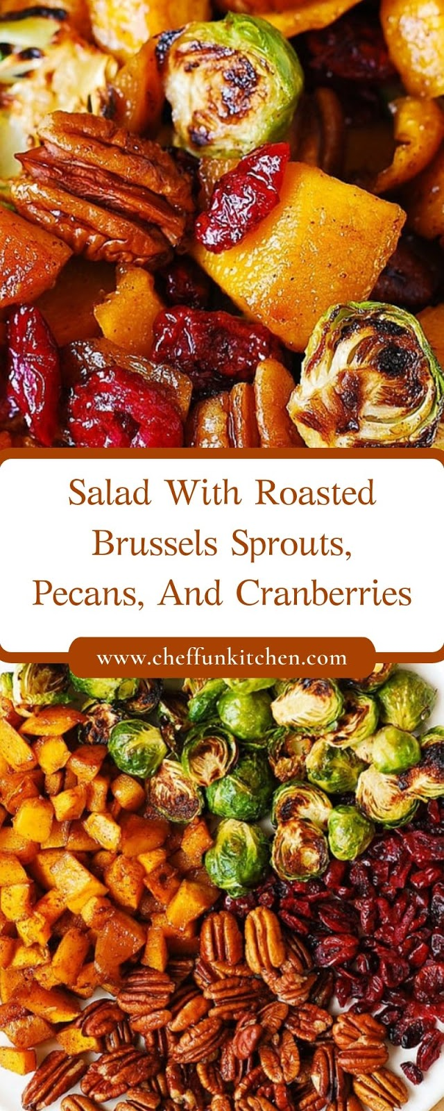 Salad With Roasted Brussels Sprouts, Pecans, And Cranberries