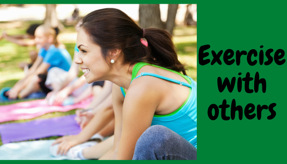 losing weight wile pregnant-Exercise with others