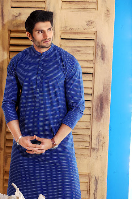 Blue Kurta Style for Boys