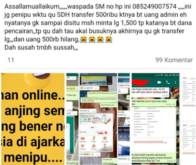 Awas! Penipuan Pinjaman Online Merajalela, Banyak korban Berjatuhan