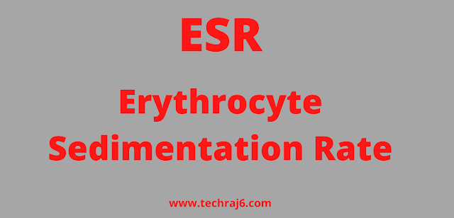 ESR full form, What is the full form of ESR