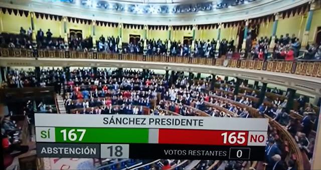 Pedro Sánchez logra ser elegido presidente del Gobierno