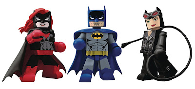 DC Comics Vinimates Series 3 Vinyl Figures by Diamond Select Toys - Batwoman, Grey & Blue Batman & Catwoman
