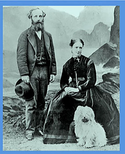 James C. Maxwell, Wife Katherine, and faithful friend (Source: G. Farmelo, IAS Presentation, May 29, 2019)