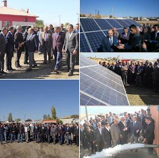 Vali Ustaoğlu, Sarıkum Köyünde kurulan güneş panellerini inceledi - Bitlis Tatvan Haber