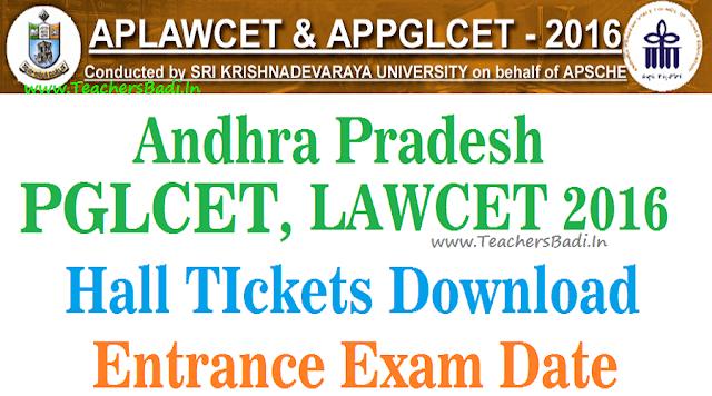 APLAWCET,Hall Tickets,APPGLCET Hall Tickets