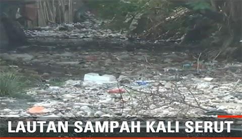 Lagi, Sampah Penuhi Kali Serut Bekasi