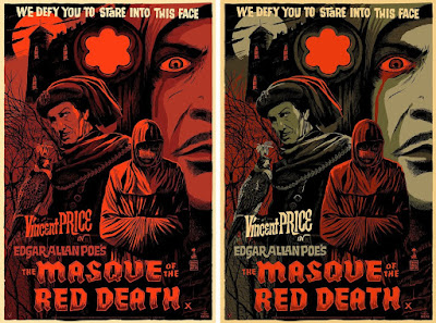 """The Masque of the Red Death"" Vincent Price Screen Print by Francesco Francavilla x Mad Duck Posters - Regular & Variant Editions"