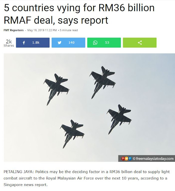 RMAF's 50 LIGHT WEIGHT Jets For RM36 BILLION ?? Are you insane ?