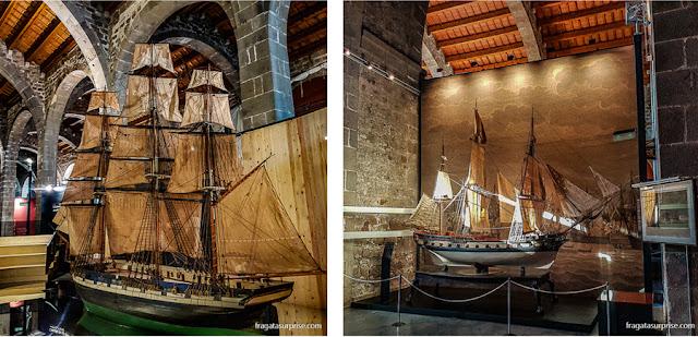 Maquetes de embarcações do Museu Marítimo de Barcelona