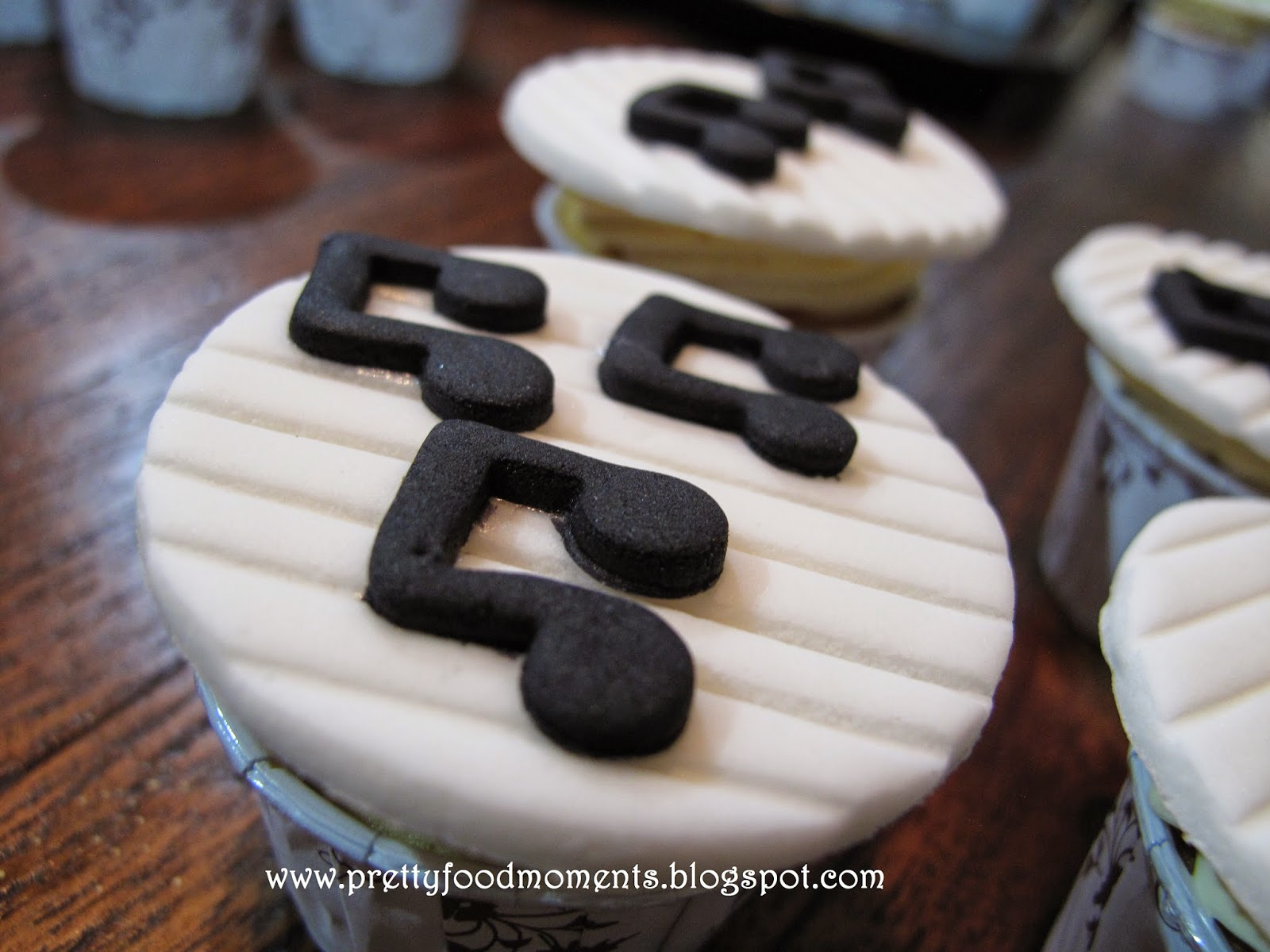 Pretty Food Moments Music Themed Cupcakes