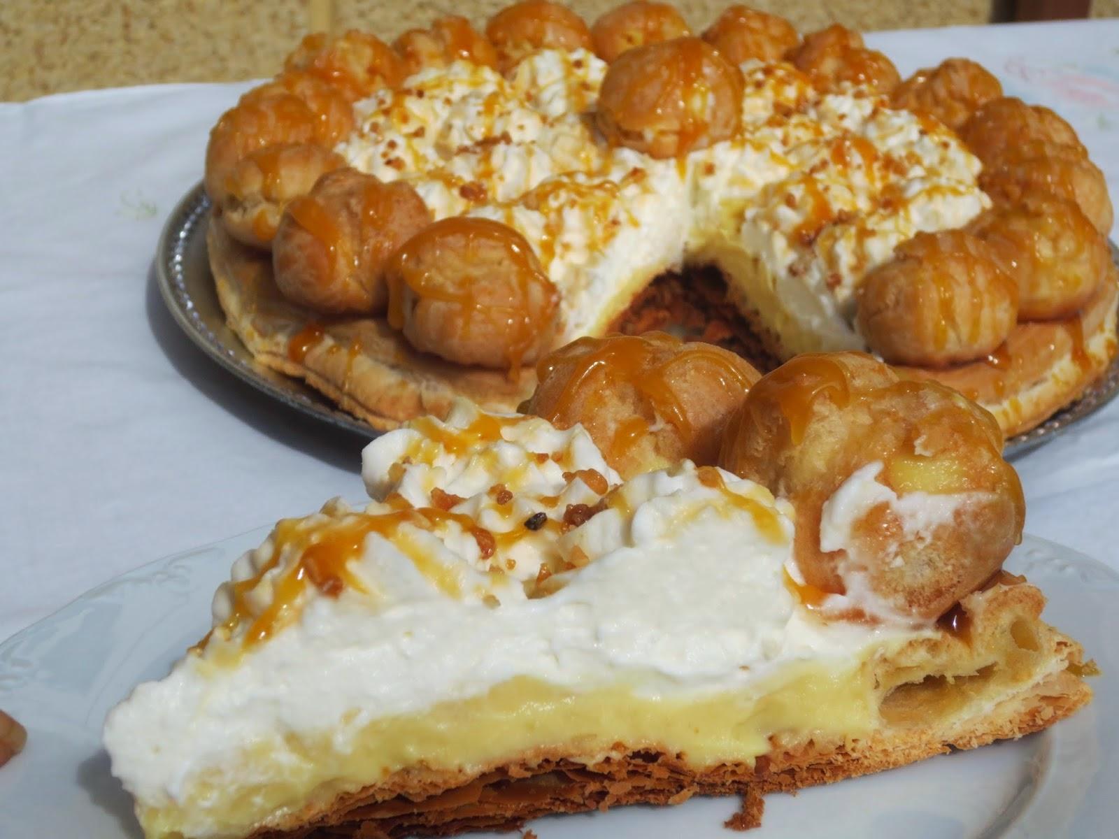 Pastel Saint-Honoré Ana Sevilla cocina tradicional