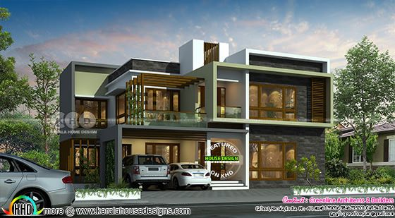 Contemporary residence design with 5 bedrooms